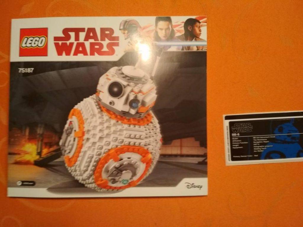Lego star wars bb 8 75187 anleitung aufkleber