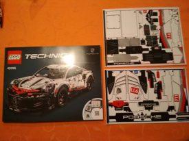 Lego Technic 42096 Porsche 911 RSR Anleitung Aufkleber
